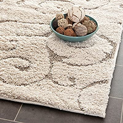 "Safavieh Florida Shag Collection SG455-1111 Cream Area Rug, 2 feet 3 inches by 4 feet (2'3"" x 4')"