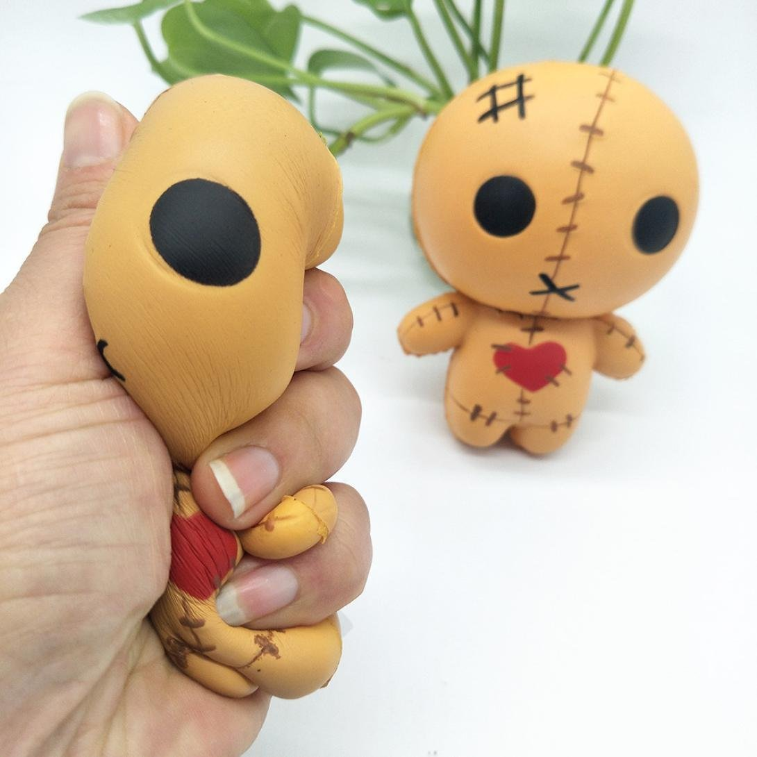 Cloudro Halloween Squishies Slow Rising Toy,Squishies Jumbo Animal Scented Kawaii Food Squishy for Boys Girls Party Gift Stress Reliever Toy,Horror Doll (A) by Cloudro (Image #2)