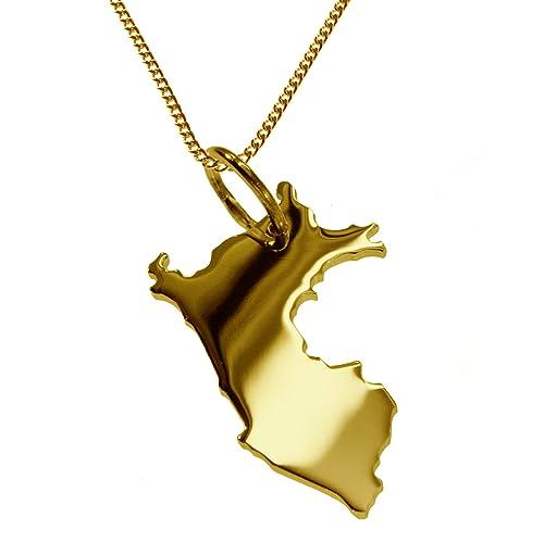 PERÚ Partidario en masivamente 333 oro amarillo con la cadena