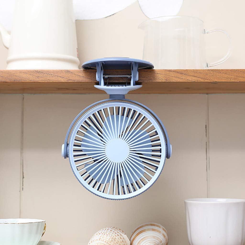 Samoii USB Charging Clip Fan Personal Hand-held Desktop Fan for Student Dormitory Mini Fan Baby Stroller Outdoor Fan Air Evaporation Fan