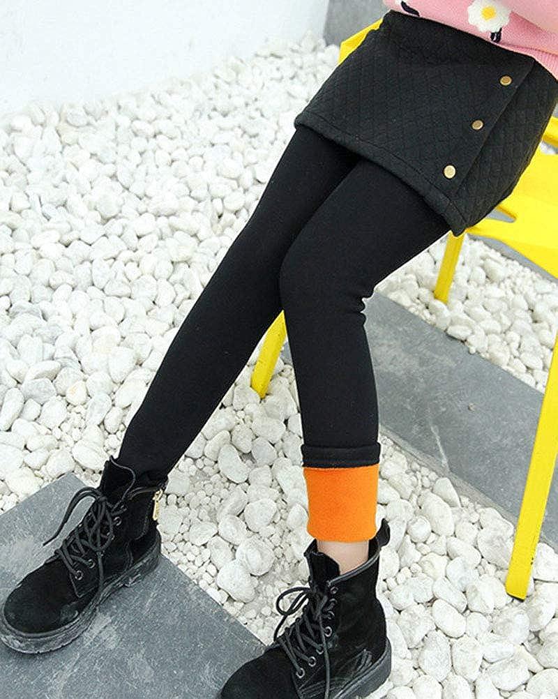 Flairstar Filles Chaud Doux Jambi/ères Longue Automne Hiver Enfants Slim Fit Pantalons