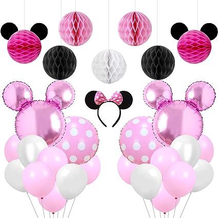Kreatwow Rosa, Fiesta de Minnie Mouse, artículos Decorativos ...