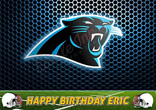Carolina Panthers NFL Edible Cake Image Topper Personalized Icing Sugar Paper A4 Sheet Edible Frosting Photo Cake 1/4 ~ Best Quality Edible Image for cake