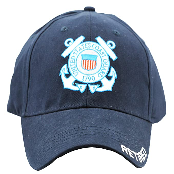 Amazon.com  US Coast Guard Retired Cap United States Coast Guard ... 23f470cc237