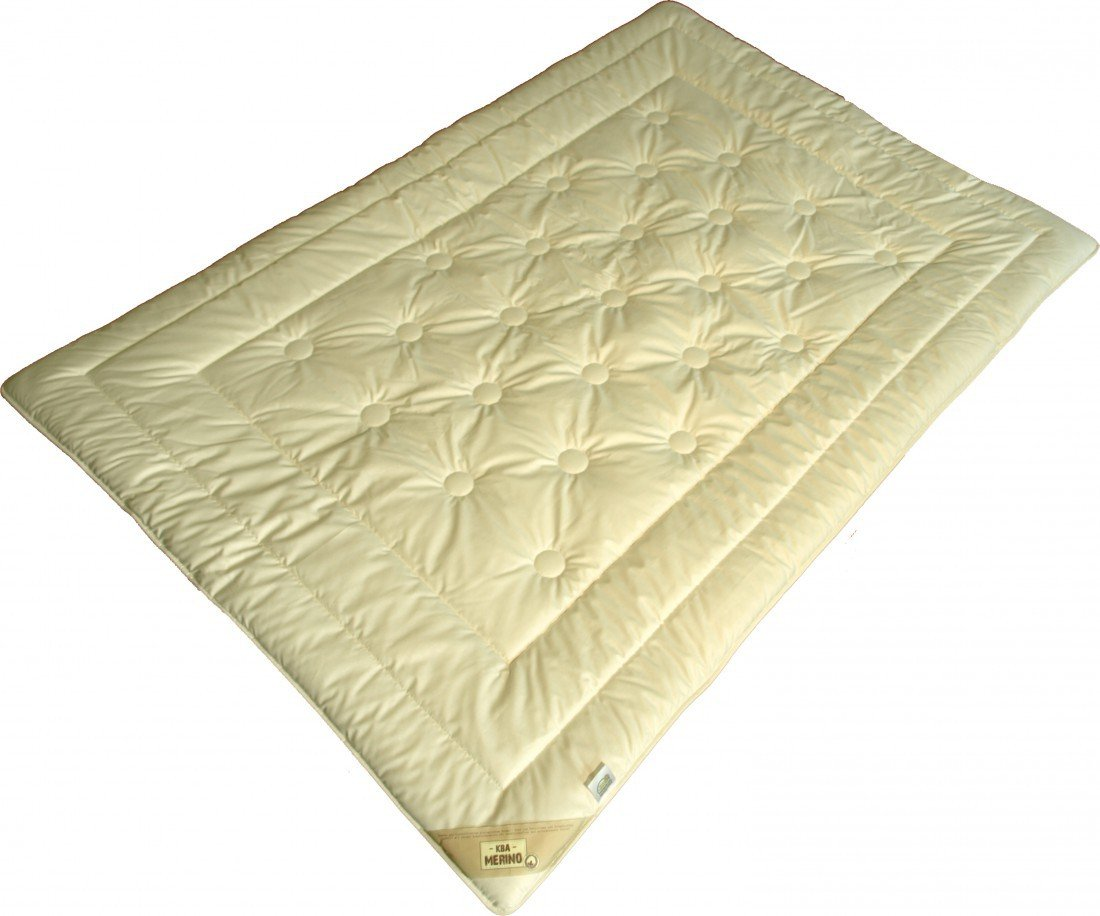Steppdecke 135 x 200   1200 g - Garanta Übergangs Decke - Duo-Steppbett KBT Merino Füllung KBA Bio Cotton Bezug