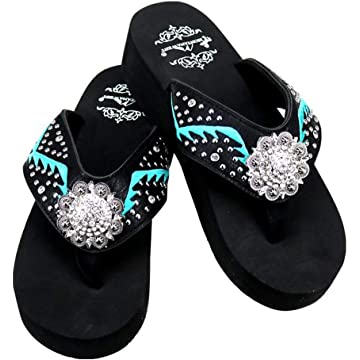 fcb3bbf5ae06c4 Montana West Women s Hand Beaded Flip Flop Sandals