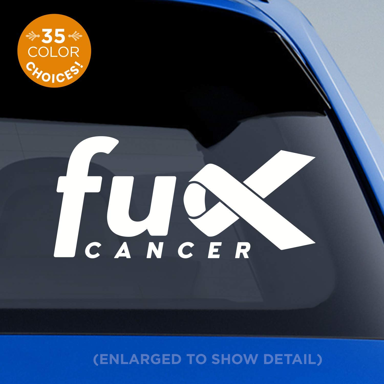 6497e5cc9d03 F*ck Cancer decal - cancer awareness ribbon decal - breast cancer, lung  cancer, colon cancer, melanoma, leukemia, all cancers