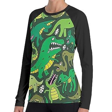 e4c86b17 Tyranosaurus T-Rex Dinosaur 100% Cotton Womens T Shirts Long-Sleeve Crew  Women's