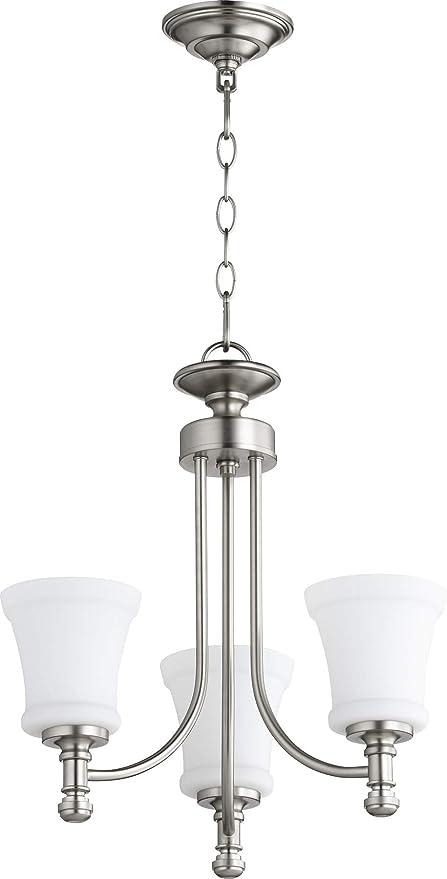 Amazon.com: quórum 3 tres luz lámpara de araña (6122 – 3-65 ...