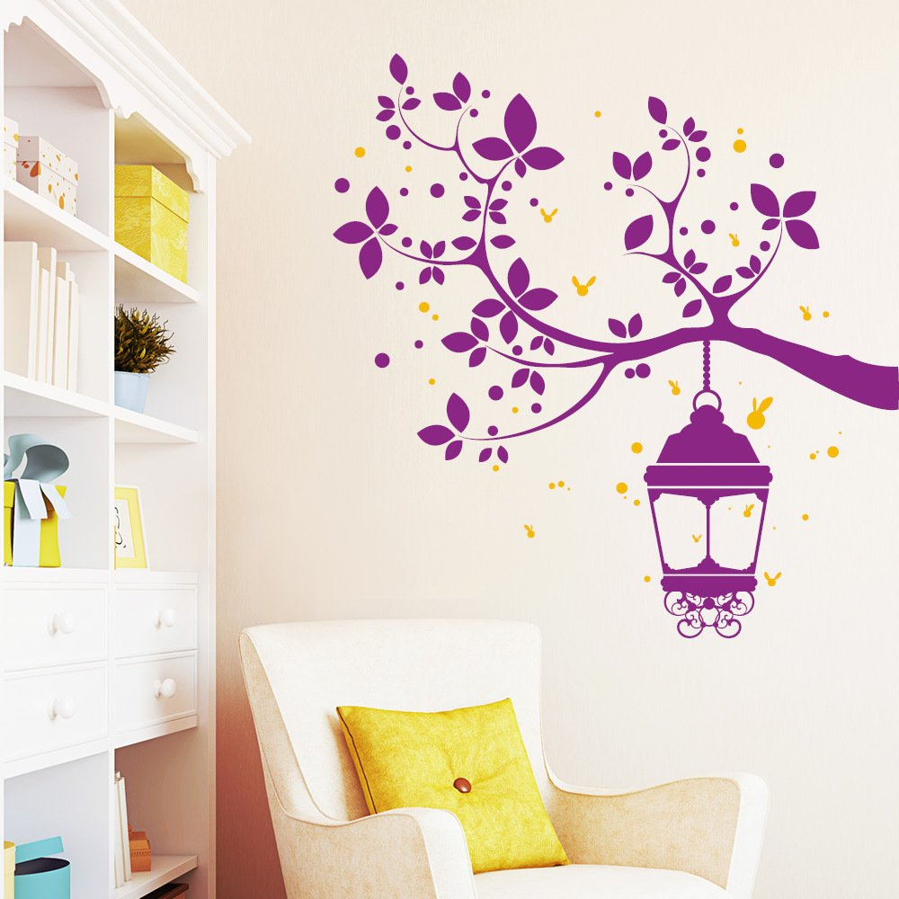 "Wandtattoo Loft ""Ast mit Glühwürmchen (2farbig) - Trecker - - - Wandtattoo   49 Farben   3 Größen   hellbraun   115 x 118 cm B00UTPF83K Wandtattoos & Wandbilder 13b11e"