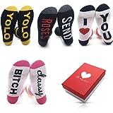 Christmas Gifts for Women Socks - Crew Girls Womens Socks for Her Fuzzy Socks