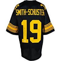 $199 » JuJu Smith-Schuster Signed Black Custom Pro Style Football Jersey BAS ITP