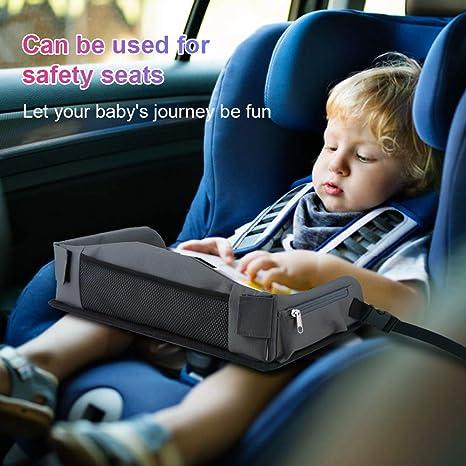 Bandeja de Viaje para Niños, YOOFOSS Mesa Infantil Tablero de Dibujo Borrable a Prueba de Agua (42×36 cm) para Asiento de Automóvil, Cochecitos y ...