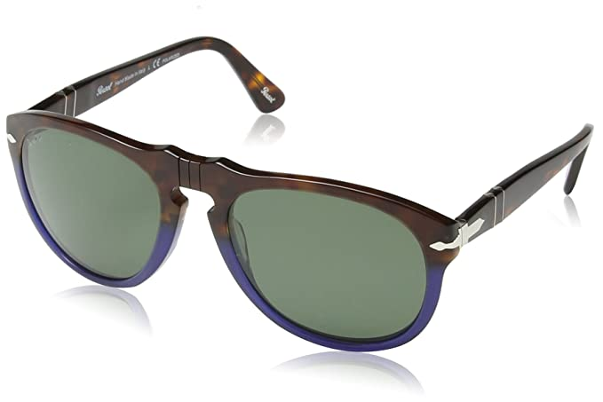 d0bf16cccc Persol Men s Polarized PO0649-102258-54 Tortoiseshell Oval Sunglasses