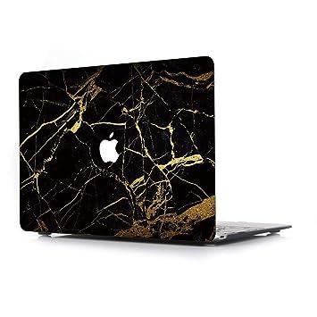 RQTX Funda Dura para Apple MacBook Air 13 Pulgadas Modelo A1466/A1369 portátiles Accesorios de plástico Protección Mármol Diseño Rígida Carcasa ...