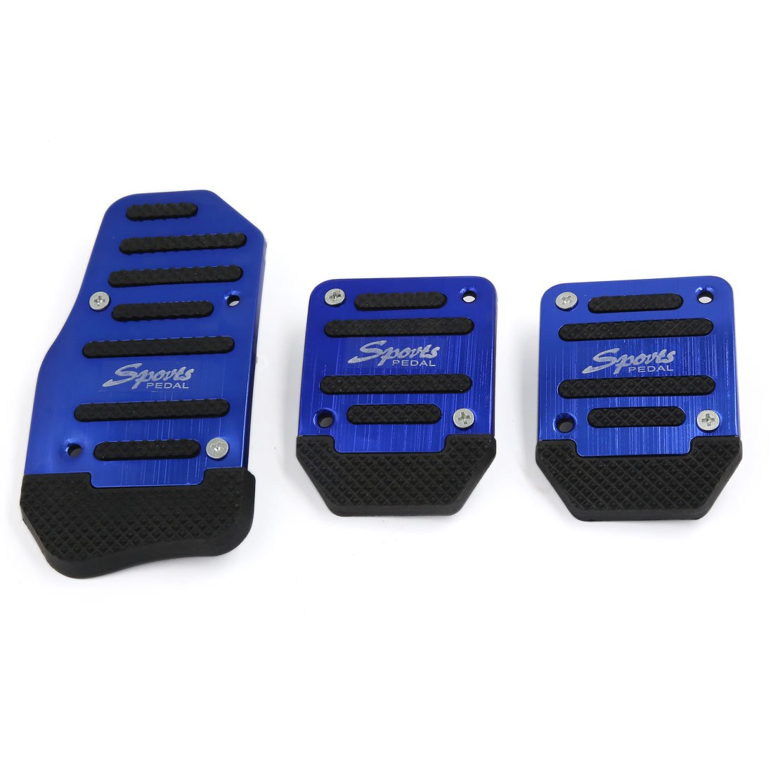 sourcingmap® 3 in 1 Blue Universal Non-Slip Gas Clutch Brake Pedal Pad Cover for Car a16041800ux1186