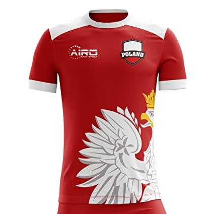 Image Unavailable. Image not available for. Color  Airo Sportswear 2018-2019  Poland Away Concept Football Soccer T-Shirt Jersey ... 13192e5c5