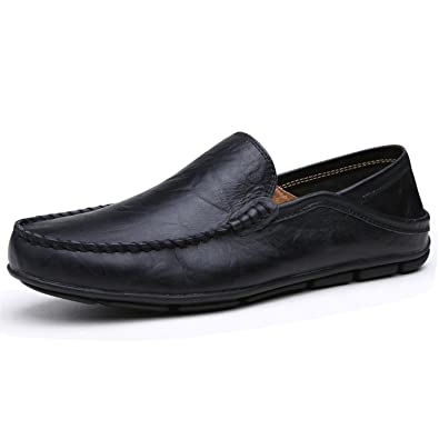 Robert Reyna Fashion Man's Breathable Flat Shoes Leather Loafers Driving Shoes