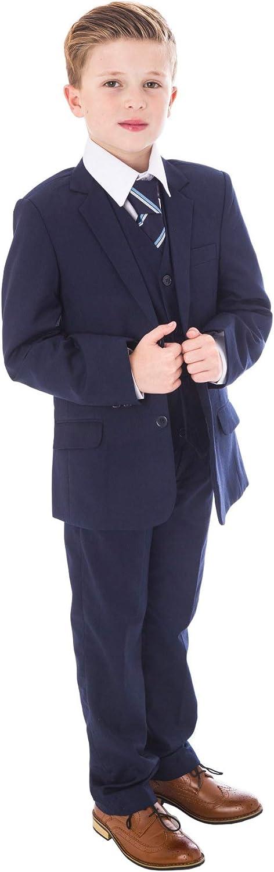 Festlicher Jungen Anzug dunkelblau 5tlg V.C