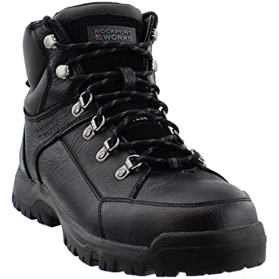 Rockport Works Mens The Lembert Casual Work & Safety Shoes, Black, 7   Boots