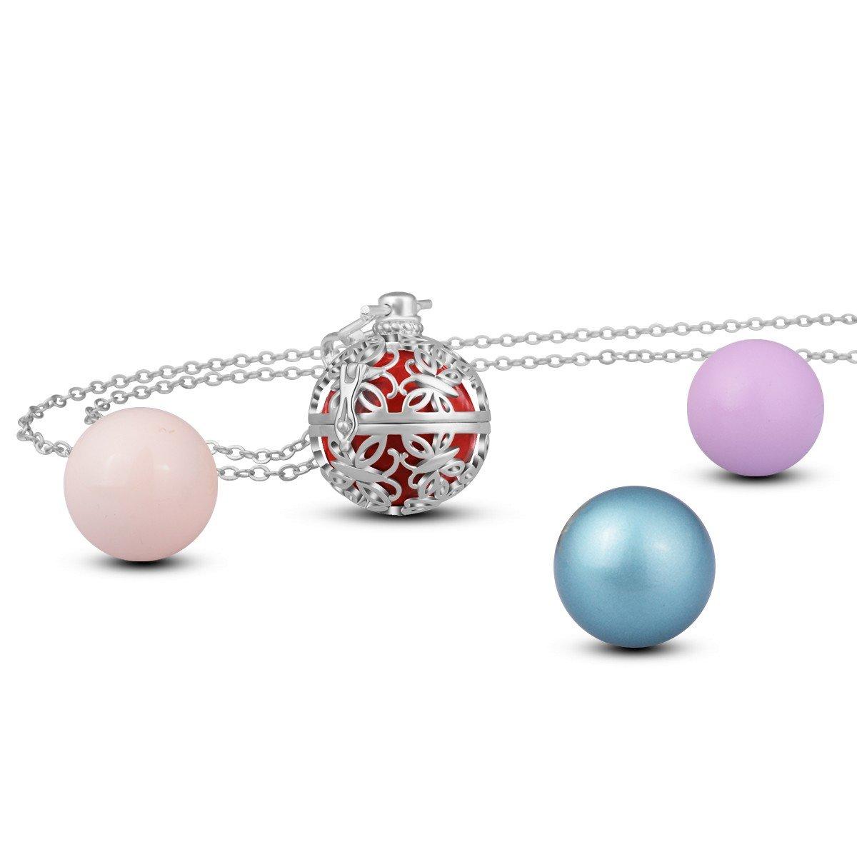 Amazon.com: AEONSLOVE - Collar con colgante de bola de ...