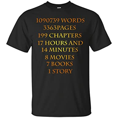 cd66976a Amazon.com: Vintage T Shirt Gifts, Graphic Tee Shirts Funny Harry Potter  Apparel - 8 Movies 7 Books 1 Story Tees Shirt: Clothing