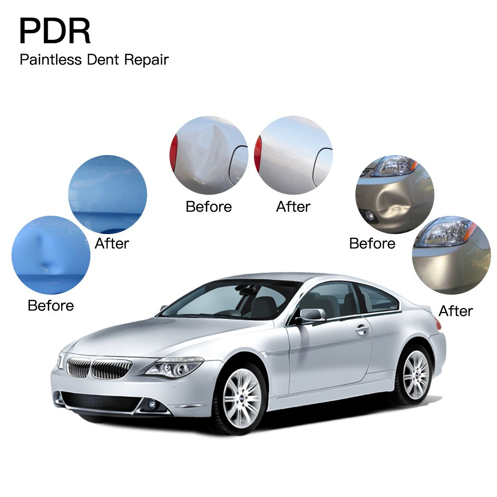 Fly5D Car Door Dent Remover Auto Ding Puller Golden Dent Lifter With 21 Pieces PDR Glue Tabs by Fly5D (Image #2)