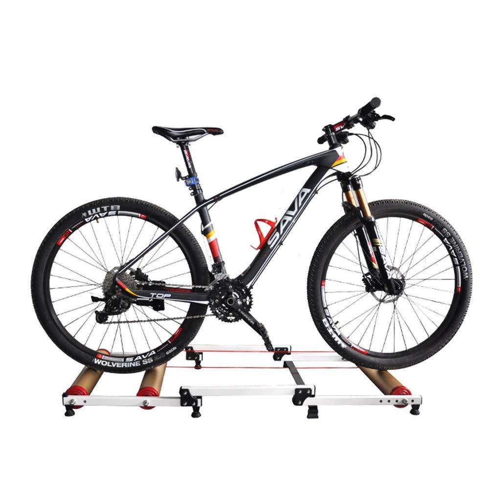 Gimitunus Entrenador de Bicicletas MTB Road Bicycle Exercise Station Entrenador de Bicicletas Plegable Interior Cycling Roller Trainer: Amazon.es: Deportes ...
