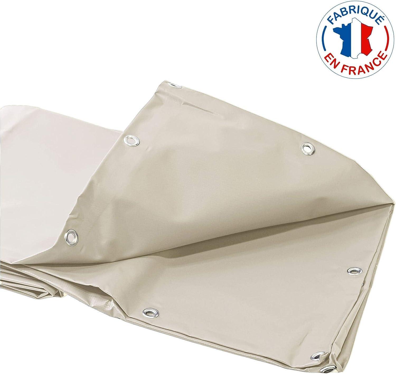 haute r/ésistance 10 ans Toile pour pergola PVC ivoire anti chaleur 3,5 x 4 m Bache ignifug/ée M2 haut de gamme