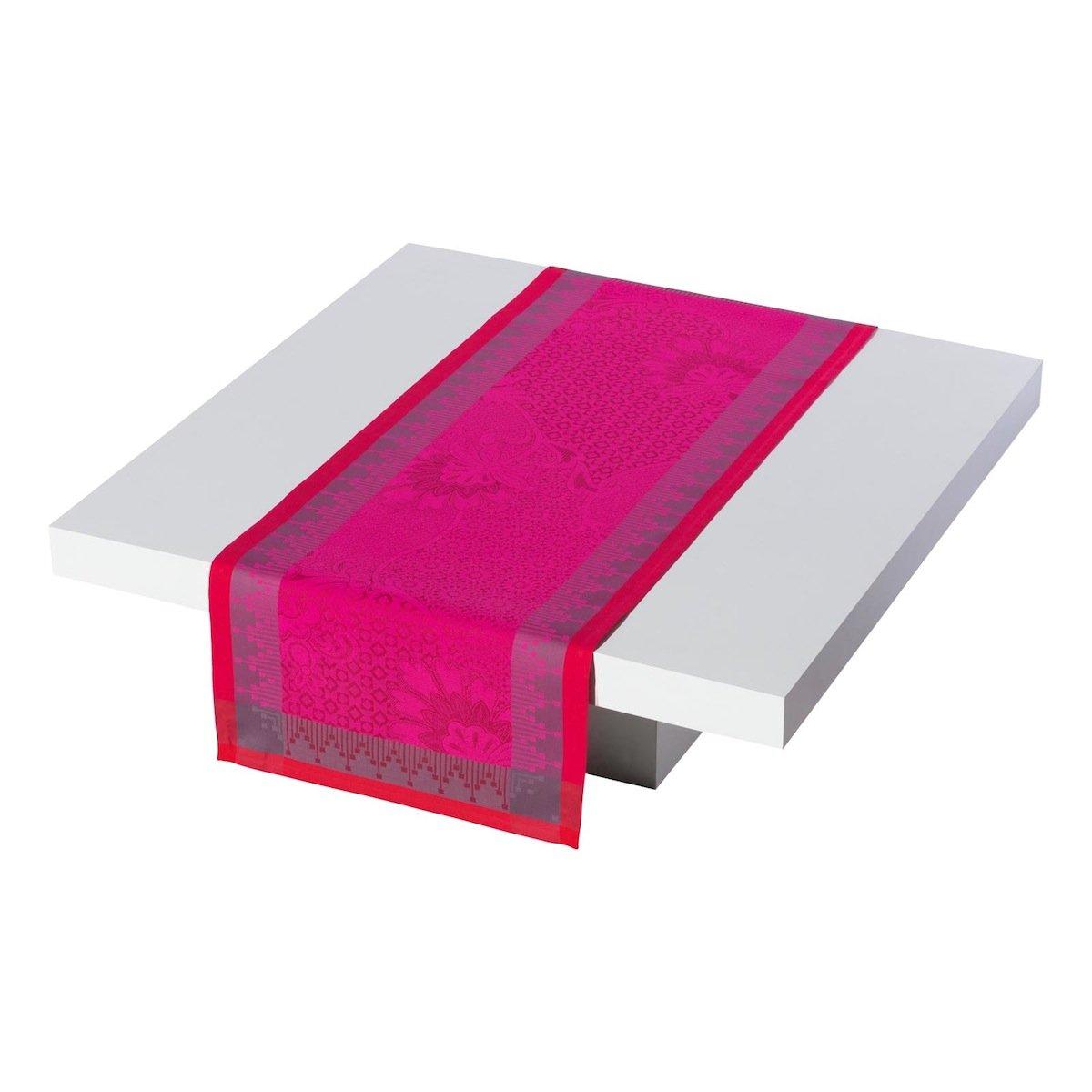 Le Jacquard Francais 20260 Tischläufer Palais Perser Baumwolle Hibiskus 55 x 200 cm
