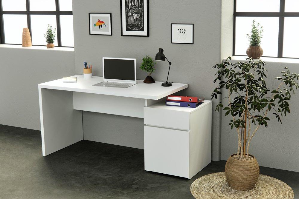 Infinikit haven bureau en bois blanc parisot bure ecr