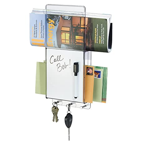 MDesign Mail, Letter Holder, Key Rack Organizer With Dry Erase Board For  Entryway