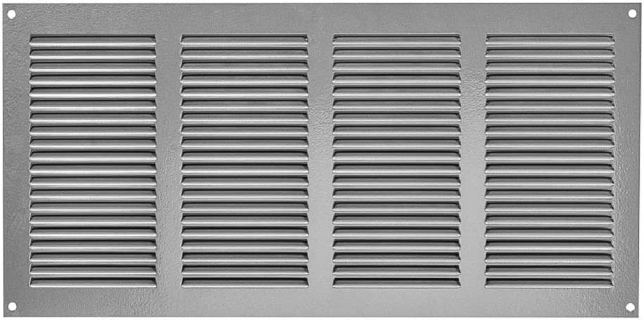 15x7 in. Grey Steel Vent Cover - Air Return Grille - Sidewall and Ceiling - with Insects Screen