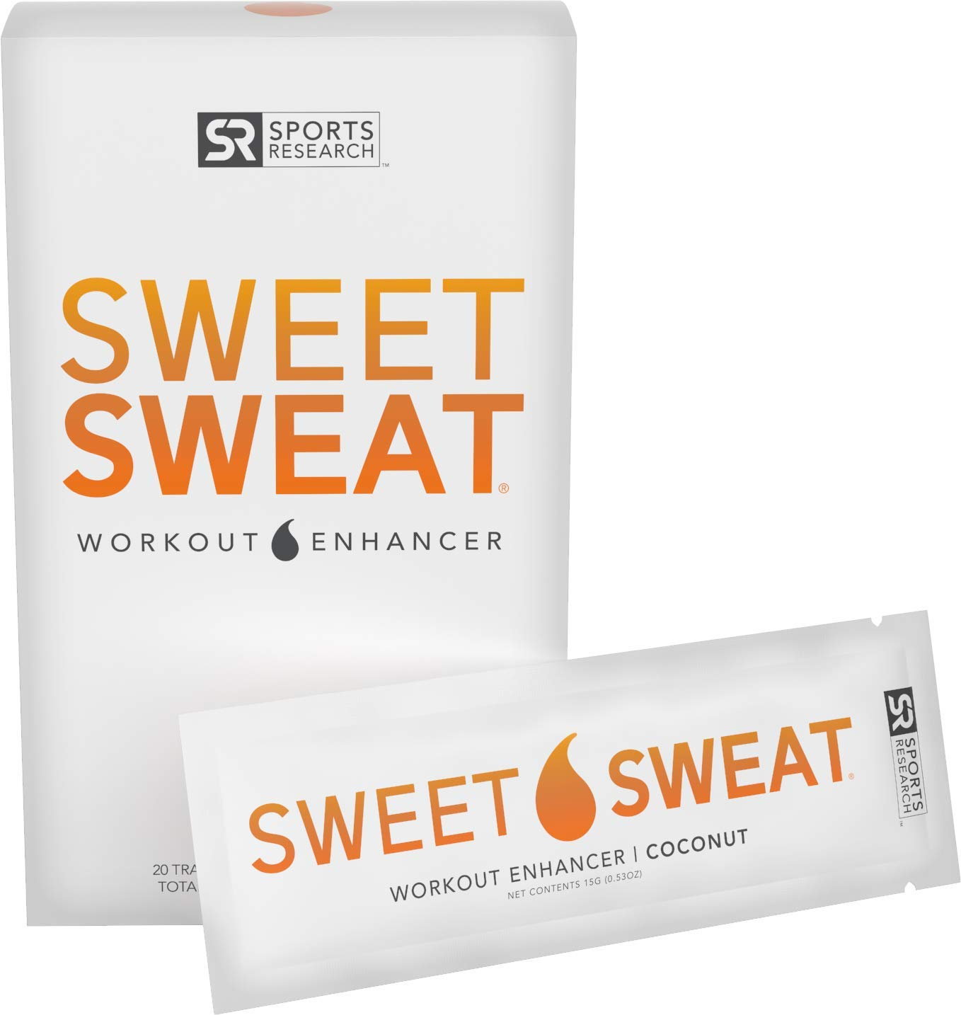 Sweet Sweat Coconut 'Workout Enhancer' Packets - 10.5oz (20 Travel Packets)