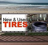 New Used Tires 13 oz Heavy Duty Vinyl Banner Sign