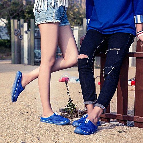 Fuera Mujer Sandalias de Azul Unisex Zapatos Zapatos Playa Chanclas Pareja Ahueca hacia Ocasional ZBOIwBqU