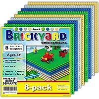 8-Pks. Brickyard Building Blocks for Play Table 10 x 10 Large (Multi Color)