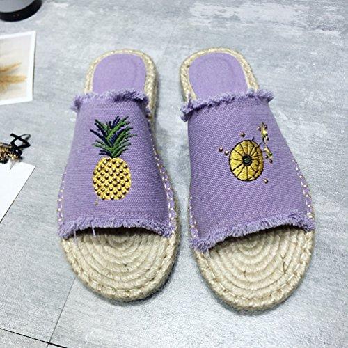 Ouverts Pantoufles Xinwcang Chaussons Femme Confort Mules pour Sandales BaaIq4O