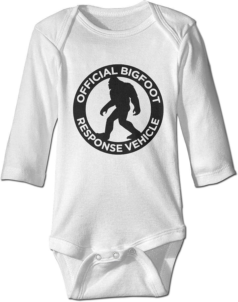 Marsherun Newborn Baby Official Bigfoot Response Vehicle Sasquatch Long-Sleeve Bodysuit Clothes Playsuits