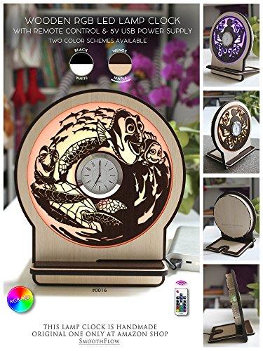 Wooden lamp clock Finding Nemo, Disney clock wooden LC0016, LED Lamp Clock, Disney gift, Wooden lamp clock, Handmade clock(Wenge-Maple-Backlight)