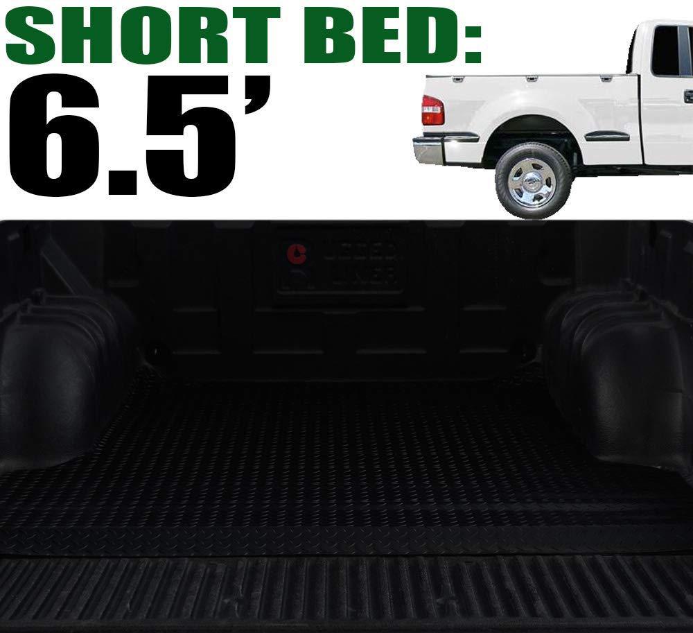 2004 Heritage 1997-1999 F250 Light Duty 6.5 Feet 78 VXMOTOR for 1997-2003 Ford F150 Bed Black Rubber Diamond Plate Truck Bed Floor Mat Liner