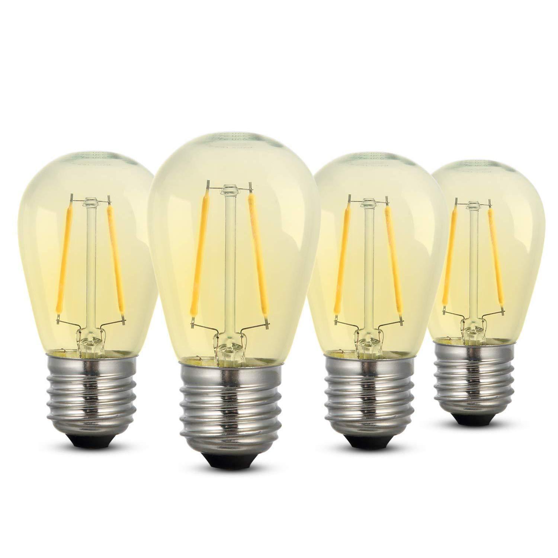 Bombillas LED, iEGrow E27 Bombillas de Edison con luz blanca 2700K 2 W 200 lm, Bombilla retro ST45, No regulable - 4 piezas CS-ST45SL4