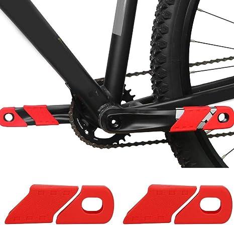 4PCS Protecci/ón de manivela de Bicicleta Protector de Mangas de Bicicleta Botas Protector Cubierta a Prueba de Polvo para Bicicleta de monta/ña Yosoo Health Gear Protector de manivela MTB