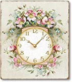 Item C1109 Romantic Pink Roses Victorian Style Clock