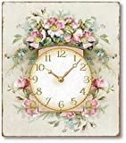 Cheap Item C1109 Romantic Pink Roses Victorian Style Clock