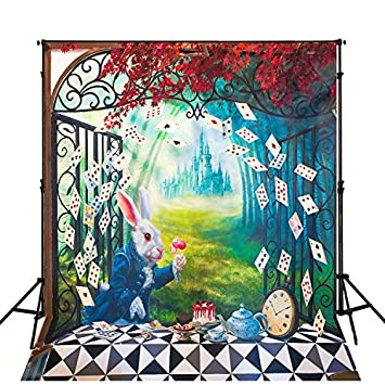 Alice In Wonderland Backdrop For Kids Birthday Party Amazoncouk
