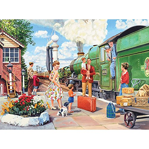 Bits and Pieces - 1000 Piece Jigsaw Puzzle for Adults - The Train Driver - 1000 pc All Aboard Jigsaw by Artist Trevor Mitchell
