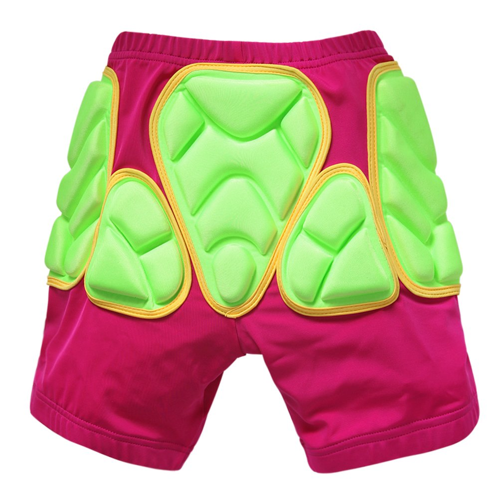 Evelin LEE Kids Protective EVA Padded Hip Shorts Ski Skate Knee Pad Gear Pant (Pink Shorts, XXS)