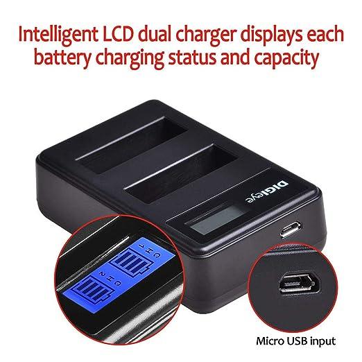 Amazon.com: Digieye - Batería y cargador USB para cámaras ...
