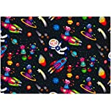SIMON ELVIN - SPACE WRAPPING PAPER - 2 SHEETS OF GIFT WRAP & 1 TAG - SE2578 by Simon Elvin
